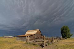 Storm's a-Comin' (MoodyGoat) Tags: wyoming mormonrow tetons moltonbarn mountains storm