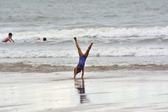preparing for Olympics 2024 (doods-on-and-off) Tags: gymnastics beach coast cloudy sea port sports