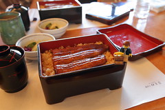 Travels of badger - Grilled Unagi at Izuei Honten (enigmabadger) Tags: brickarms lego custom minifig minifigure fig accessory accessories japan asia vacation trip travel outdoors japanese
