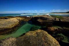 Birdie Beach Rock Pools (Paul Hollins) Tags: aus australia freemans newsouthwales birdiebeach nudistbeach seascape nikond750 rocks ocean nikon1635mmf4