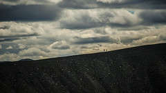 walking on top. Hverfjall Volcano (rinogas) Tags: rinogas walking hverfjall volcano iceland