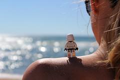 #27 Baywatch (DocChewbacca) Tags: beach stormtroopers sun sea summer baywatch holiday ocean girl blond shoulder lego minifig toy toyphotography starwars