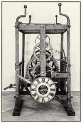 Clock Mechanism, Rectors Palace, Dubrovnik (S.R.Murphy) Tags: croatia dubrovnik oldtown urbanlandscape clock metal texture mechanical oldclock bw blackandwhite monochrome canon6d canonef50mmf18 niksilverefexpro