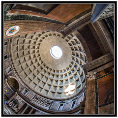 Pantheon Dome (derek.dpr) Tags: pantheon dome rome roma italy italia architecture architectural oculus classical classic olympus omd em5 fisheye fish 1x1