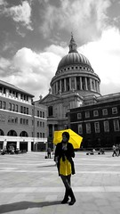 London (EleTNT) Tags: portrait me yellow umbrella smile happy beauty