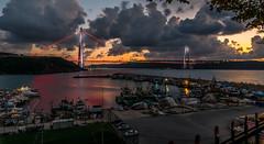 UMT_7729-2 (UmitCukurel) Tags: bridge turkey istanbul bosphorus sony nikon lightroom d750 sonyalpha bogazici kopru night poyrazkoy battleship gemi sky sunset dusk gunbatimi cloud