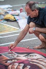 Lo sguardo (FolleMente) Tags: people persona draw disegno madonnaro grazie lombardia italia it