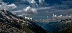 Ciel Tourmenté sur le Massif du Mont Blanc (Frédéric Fossard) Tags: nature vallée horizon altitude panorama massifdumontblanc aiguillesrouges glacier montblanc alpes hautesavoie neige névé moraine pierrier france chamonix valléedechamonix