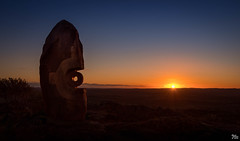 Bajo El Sol Jaguar by Antonio Nava Tirado (mark.iommi) Tags: bajoelsoljaguar antonionavatiradu livingdesertsculptures brokenhill australia sunset sunrays livingdesert desert