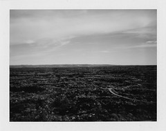 valley of fires ii - sea of black (Eric Baggett) Tags: analog film newmexico polaroid bnw valleyoffires fujifp100c endless vast desolate beautiful ericbaggett lavarock monochrome noiretblanc bnwfilm blackandwhite blackandwhitelandscape blackandwhitephotography