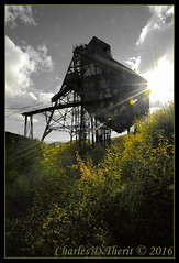 Little Teresa Mine (ctofcsco) Tags: 180 16mm 1635mm 220 5d 5dclassic 5dmark1 5dmarki black autumn canon co color explored fall geo:lat=3870994955 geo:lon=10513973415 geotagged landscape mountains renown scenic tellercounty trees victor colorado coloradosprings custompicturestyle ef1635mmf28liiusm eos5d explore f22 mine portrait selectivecolor sunflare ultrawideangle unitedstates usa white wideangle yellow esplora ultra wide angle