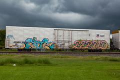 (o texano) Tags: houston texas graffiti trains freights bench benching link bernard