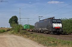"""189 210 """"ERS"""" mit Containerzug - 21.09.2016 - Porz Wahn (D) (Frederik L.) Tags: db bahn eisenbahn gterzug mrce ers railways baureihe 189 siemens porz wahn bahnhof sptsommer container hafen bersee"""