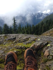 Lunch Spot (Bhlubarber) Tags: mobile iphone cell bc canada lunch hike mountain seymour north shore