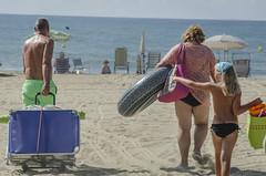 In Spain on beaches (pelpis) Tags: summer people places beach sea scene scenary 2014 flickr photo photobeach
