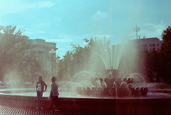 (VeronikaMagic) Tags: lomo film lomography life view september autumn russia fed walk everyday town city streets street sky people light moments nature architecture