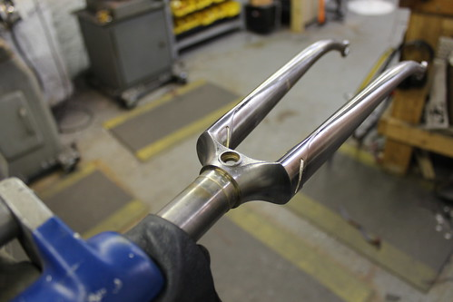 elongated points on the fork crown