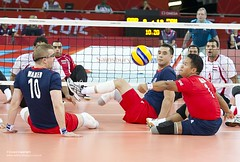LCpl Netra Rana Taking Part in Sitting Volleyball London 2012 Paralympics (Defence Images) Tags: uk male london sport soldier army team sitting military egypt royal rifles gb windsor british volleyball olympic rana defense defence paralympics personnel gbr gurkha netra identifiable