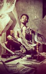 portrait (chummy_boi) Tags: city portrait texture tattoo nikon artist skin creative deep conceptual inked zamboanga onelight d90 phlearnbattle
