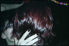 (Igor Baranchuk) Tags: party colour film 35mm hair mju flash fingers manicure portra mjuii olympusmju portra160