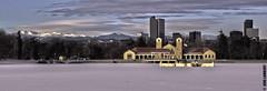 City Park Pavilion, Denver, Colorado (Jens Lambert Photography) Tags: park city lake snow mountains ice canon landscape rockies photography photo pond downtown photos style landmark denver spanish jens highrise destination 5d lambert hdr mkiii