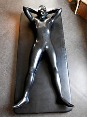 Lay down with 0.2MM Black Rubber Suit (Mr.S Rubberforfun) Tags: fetish gimp rubber latex kink totalenclose