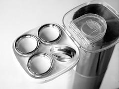 Proxar Set (Riex) Tags: blackandwhite bw film closeup set zeiss photography noiretblanc gear accessories ikon ilford accessoires lenses optics lentilles panf carlzeiss contaflex iso50 proxar