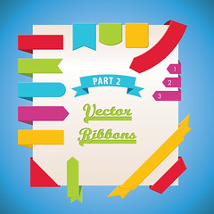 Vector Ribbons Part 2 (DryIcons) Tags: ribbons sale background tag banner labels ribbon vector element