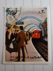 London Underground Stamp (stavioni) Tags: london electric train underground ebay tube railway stamp postage bargain fujairah fujeira