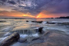 Sweet Ending [Explore] (Pandu Adnyana (thanks for 100K views)) Tags: sunset bali motion beach rock indonesia temple wave tanahlot mengening