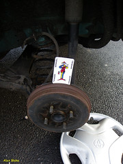 """Jokerman"" 293/365 (alexinatempa) Tags: wheel wales hub toyota joker playingcard verso yaris jokerman llansamlet flickr365 oneobject365 astyres passengersiderear"