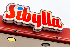 Sibylla Sign (Mabry Campbell) Tags: street red sign logo photography restaurant photo skne europe neon sweden fastfood f45 photograph 100 sverige february scandinavia malm malmo ef2470mmf28lusm 2012 redsign sibylla skane 42mm storefrontsign sec boxsign mabrycampbell february242012 201202241917