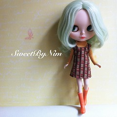 Hello Satursday. Special dress for my Thank You event. Soon!!! #blythe #blythedoll #doll #dolldress #sweetbynim # (Sweet-by-Nim) Tags: square squareformat iphoneography instagramapp uploaded:by=instagram