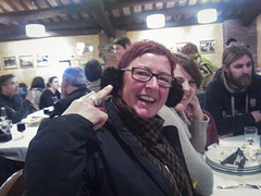 El Pelegri 2013 (duncanreddish) Tags: mar spain ben catalonia espana helen ear earmuffs lorraine tossa tossademar muffs earwarmers riudarenes
