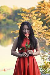 IMG_2385 (Sarah Sonny) Tags: portrait orange woman girl beauty female asian outdoors dress ivy naturallight fancy cornell ithaca 5star