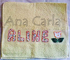 toalhinha Aline (Ana Carla_Fazendo Arte) Tags: baby bebê patchwork menina menino rosto toalhinha toalharosta