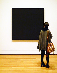 Ad Reinhardt, Abstract Painting with viewer