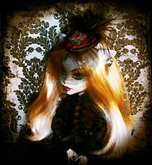 A Lady and Her Hat. (Spooky Ravencroft) Tags: hat monster crafts gothic goth victorian polymerclay clay beast custom mattel crafting polymer fascinator monsterhigh