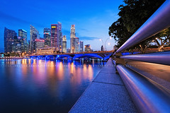 Forever After Days (draken413o) Tags: life city blue colour beautiful skyline architecture night digital singapore long exposure cityscape hour blending