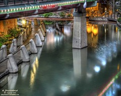 San Antonio River Walk under the Presa Street bridge (PhotosToArtByMike) Tags: sanantonio downtown texas landscaping riverwalk pathways sanantoniotexas sanantonioriverwalk presastreet paseodelrio