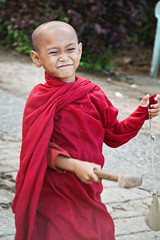 The Smiling Little Monk (trickyd3) Tags: buddha burma buddhist monk myanmar buddhistmonk thegoldenland thegoldenrock rememberthatmomentlevel1
