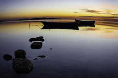 Saline di Trapani (PennellaOnTheRoad) Tags: sunset italy green nature water landscape boat saline trapani