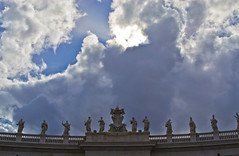St Peter's Square - Rome, Italy. (Craig Greenwood) Tags: city sky italy pope vatican rome roma heritage history church archaeology beautiful beauty abbey statue skyline architecture landscape italian ancient ruins worship europe flickr raw catchycolours cathedral cardinal roman prayer pantheon scenic places historic colosseum holy craig stunning romantic historical priest colourful marble 1855mm niko dslr stpeterssquare minster citycentre tombs romanempire romans sistinechapel cleopatra benito stpetersbasilica vaticancity archbishop saintpeter benedictus romani apostle icapture historicalcity historicalplace historictown historicaltown finegold citybreak houseofgod housesofworship perfectbeauty emperorhadrian flickrtravelaward nikond3100