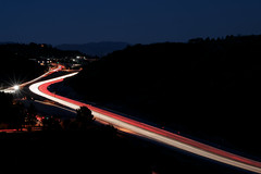 Friday Checkmark (Stephen Boodram) Tags: california ca longexposure red usa white cars cali america lights evening la us losangeles unitedstates valley lighttrails sanfernando