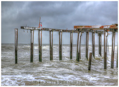 Ocean Grove Fishing Pier HDR (Mike Black photography) Tags: ocean new sea storm black beach mike water canon pier high dynamic grove sandy iii hurricane nj atlantic jersey boardwalk asbury 5d range hdr mk photomatix aprk