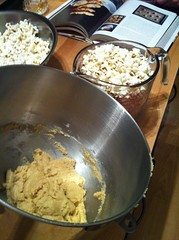 Dough & popcorn...do they taste good together? (trish.brewer) Tags: uploaded:by=flickrmobile flickriosapp:filter=nofilter