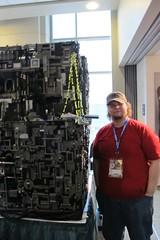 Borg Cube Builder (Denis Ryan) Tags: startrek lego borg nextgeneration eccc emeraldcitycomiccon borgcube emeraldcitycon uploaded:by=flickrmobile flickriosapp:filter=nofilter eccc13