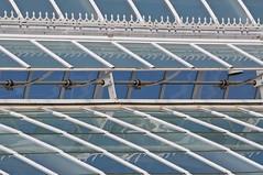 Greenhouse Detail (brev99) Tags: blue white glass metal vent greenhouse trim dukefarms tamron70300vc
