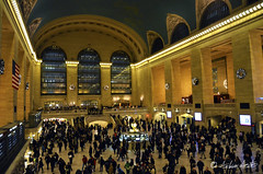 NYC - Grand Central (Andrew Acey) Tags: christmas new york city railroad travel people usa holiday apple station century america train centennial hall store nikon united year central grand terminal 100 states d5100