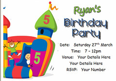 i120j bouncy castle invite (Locketmaid) Tags: show birthday girls boy party castle beach boys girl face kids painting balloons disco kid puppet slumber clown magic climbing invitation childrens invite bouncy sleepover invites invitations magician